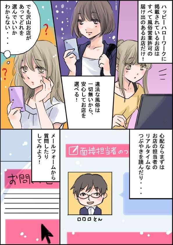 ハピハロ(ハッピーハローワーク)の紹介マンガ(page3)