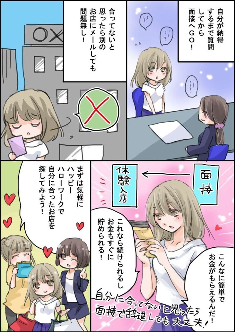 ハピハロ(ハッピーハローワーク)の紹介マンガ(page4)