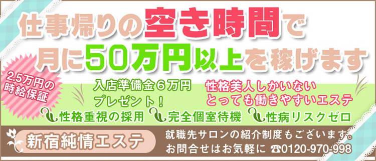 新宿・エステ・新宿純情エステの風俗求人情報