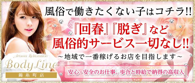 錦糸町・小岩・新小岩・葛西・亀有・一般エステ・ボディラインの風俗求人情報